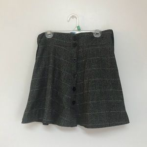 Gray Skirt with Suspenders